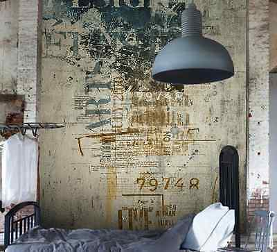 3D Old Text Painting Wall Paper Wall Print Decal Wall Deco Indoor wall Murals