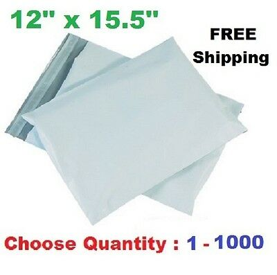 12x15.5 Poly Mailers Shipping Envelopes Self Sealing Plastic Mailing Bags 1-1000