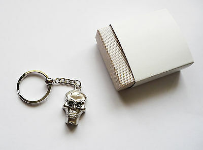 Metal Skull Key Ring