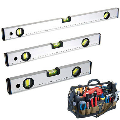 Spirit Level Set Professional Builders 3 Building Leveller Measuring Tape Tools