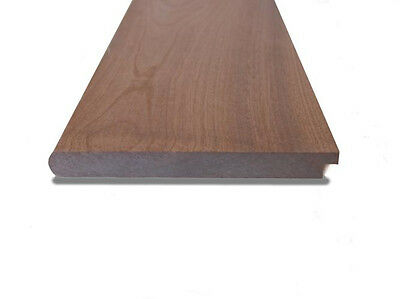 "25mm x 225mm RED HARDWOOD 9"" Window Board Bull Nose & Tongue Cill Sill"