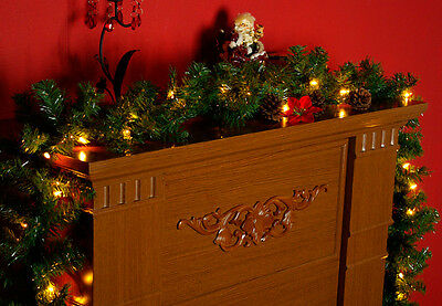 weihnachts girlande mit licht im h uschen handgefertigt. Black Bedroom Furniture Sets. Home Design Ideas