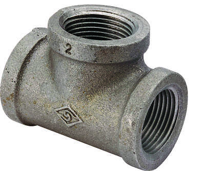 WORLDWIDE SOURCING 11A-3/4B Pipe Tee, 3/4 in, Threaded, Malleable Iron