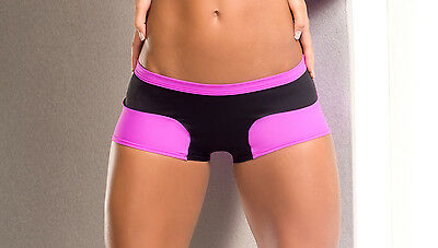 Sexy Dancewear & Fitness Women's Two-Tone Athletic Shorts. Made in the USA.