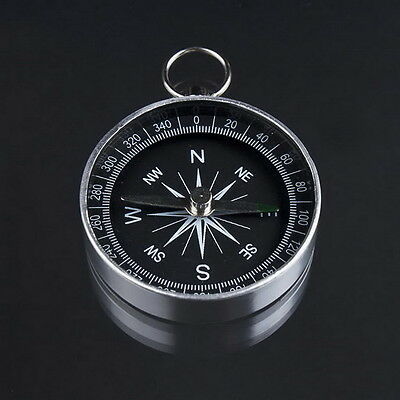 Mini Aluminum Camping Compass Hiking Hiker Navigation LB