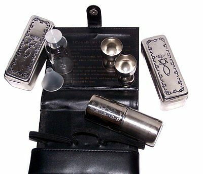 Meal that Heals Communion Set- Complete kit, leather Belt Bag, Messianic Seal