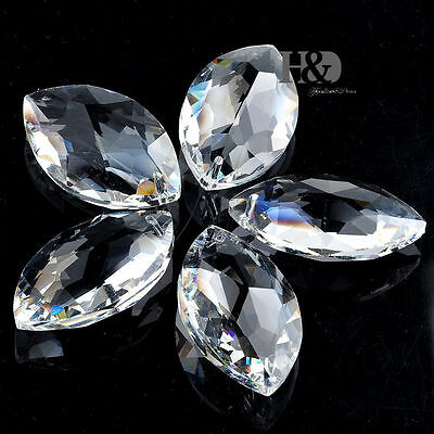 5pcs  Crystal Prisms  Beads Garland Chandelier Hanging Wedding Supplies  1.5""