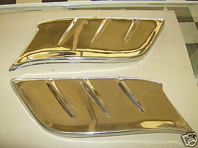 1953 1954 Chevrolet Car Fender Gravel Shields  1 Pair New In The Package