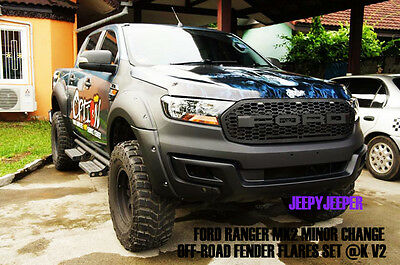 Offroad V2 Fender Flares Wheel Arch For Ford Ranger Mk2 Px Wildtrak 2015 2016 K
