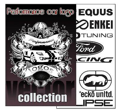 PERFORMANCE CAR LOGO VECTOR COLLECTON eps clip art PLOTTER