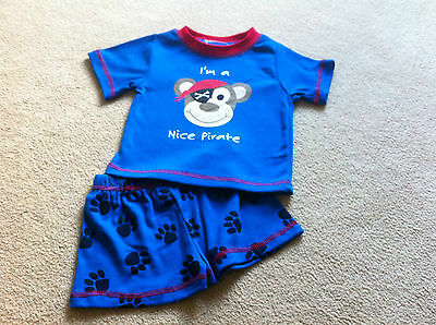 Baby Boys Undercover Crew Pirate Pj's -Bnwt -Sizes 0 1 2