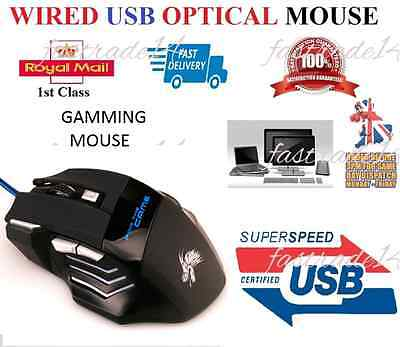 New 5500 DPI 7 Buttons LED USB Optical Wired Gaming Mouse For Pro Gamer M5
