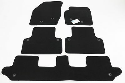 Fully Tailored Car Floor Mats - Volvo XC 90 2002 to 2014, Black - With Clips