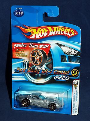 Hot Wheels 2005 First Editions #16 Shelby GR-1 Concept Silver w/ FTEs