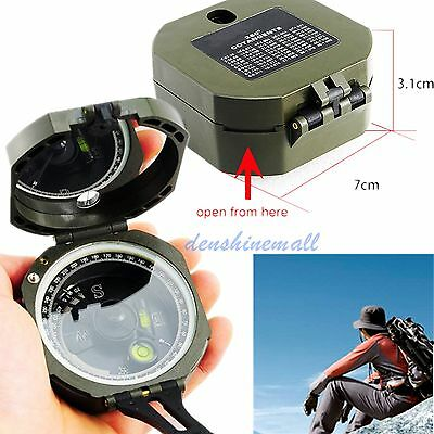 Army Green Pocket Transit Plastic Compass For Hiking Surveyors Foresters geology