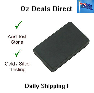 Acid Scratch Test Stone for Silver Gold Platinum Metal - jewelry antique testing