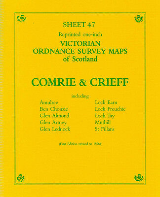 Map Of Comrie & Crieff Victorian Ordnance Survey
