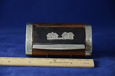 Antique French Rosewood Snuffbox Two Houses