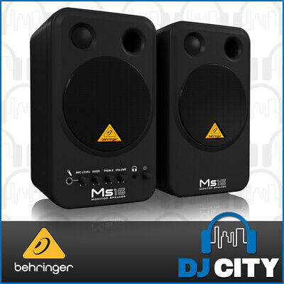 MS16 BEHRINGER STUDIO MONITORS SPEAKERS 4-INCH (Pair)