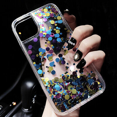Luxury Glitter Star Liquid Back Phone Case Cover For Apple iPhone X 8 6s 7 Plus