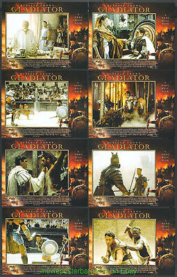 GLADIATOR Rare U.K. LOBBY CARD Set of 8 Movie Poster 11x14 Inch  RUSSELL CROWE