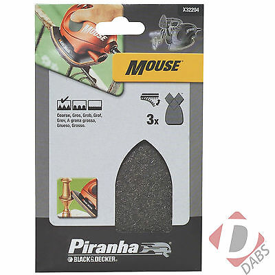 Black & Decker Piranha Quick Fit Pad Coarse Wire Wool Mouse Sheet Fingers X32204