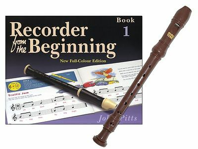 Musicians Flute Learning Tutors Recorder From The Beginning (Book/Instrument)