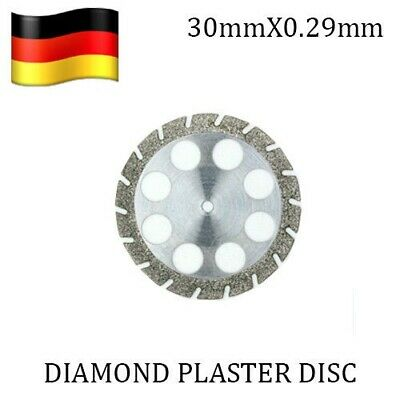 Dental Lab Diamond Disc 30mm x 0.29 mm Plaster Die Stone Investment + Mandrel