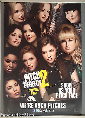 Cinema Poster: PITCH PERFECT 2 2015 (Faces One Sheet) Anna Kendrick Rebel Wilson
