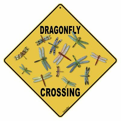 Dragonfly Crossing Sign NEW 12x12 Metal Low Shipping