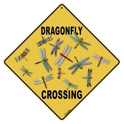 Dragonfly Crossing Sign NEW 12x12 Metal