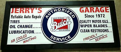 Personalized Vintage Style Filling Station Garage Gas Auto Sign with Buick tin