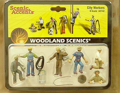 O scale CITY WORKERS Woodland Scenics Train People # 2742