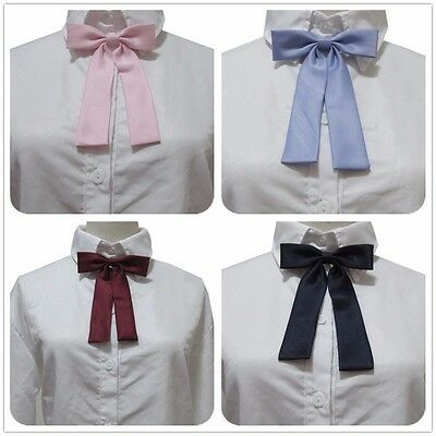 Sweet Lovely Japanese JK Uniform Crown Jacquard Bowknot Bow Tie Costume Cosplay