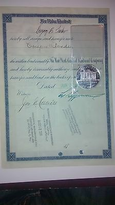 Bank Approved $10,000 bond certificate with 1 oz. Bullion coin