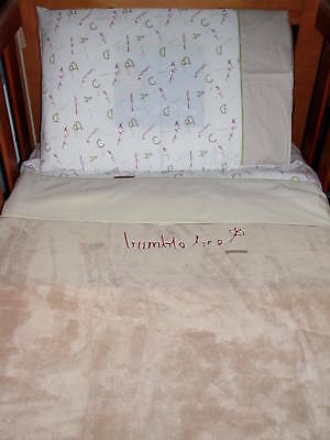 New baby ABC cot set sheets quilt blanket cot set