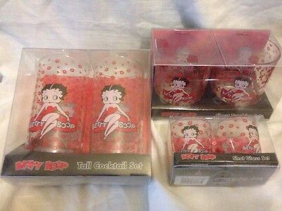 Betty Boop Red Combo Cocktail glasses, shot glasses, Tumbler glasses, drinking