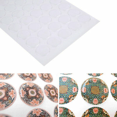 300pcs 1 inch Transparent Dome Circle Epoxy Stickers For Bottle Cap Crafts LC