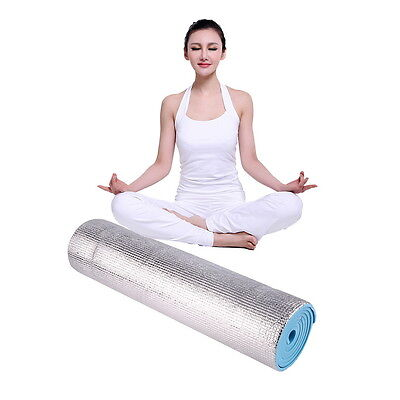 YOGA MAT EXERCISE FITNESS AEROBIC GYM PILATES CAMPING NON SLIP 6mm THICK UR