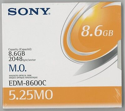 "Sony 5.25"" RW Optical 8.6GB 2048B/S (EDM-8600C) -NEW & FACTORY SEALED"