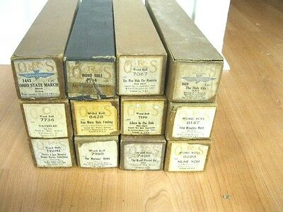 Lot Of 12 Vintage  Piano Rolls - Lot 16