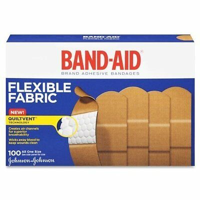 Band-Aid Johnson & Johnson Band-Aid, Flexible Fabric, 100-Count Box ,Pack of 3