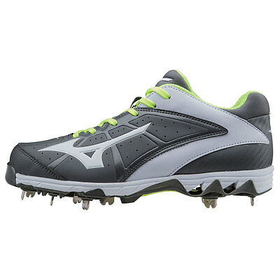 Mizuno 9-Spike Swift 4 Women's Metal Softball Cleats - Gray/White - 7