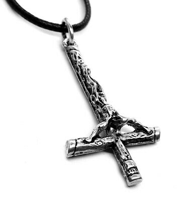 Inverted Cross Occult Satanic Pendant (Silver Plated)