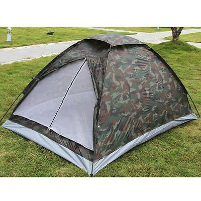 Camping Tent for 2 Person Single Layer Waterproof Outdoor Camouflage DU 4GW3