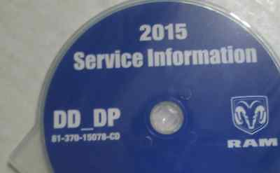 2015 Dodge RAM TRUCK 1500 Service Information Repair Service Manual CD DVD NEW