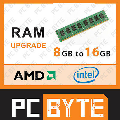 PCByte Computer System Memory RAM Upgrade 8GB DDR4 to 16GB DDR4