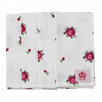 Royal Albert New Country Roses White Napkins set of 4