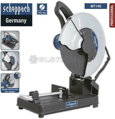 230V Iron Cut Off Saw Metals Maschine Ø 355 Mm 2000 W Scheppach Mt140