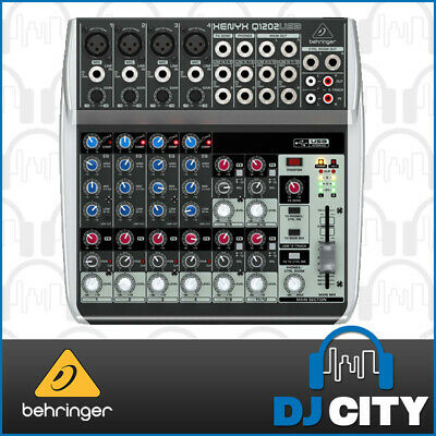 Behringer Xenyx Q1202USB 12 Channel PA Mixer with USB Interface - 3 YEAR WARR...